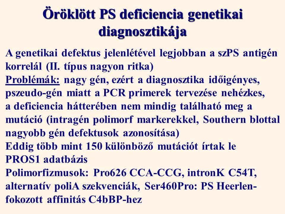 Öröklött PS deficiencia genetikai diagnosztikája