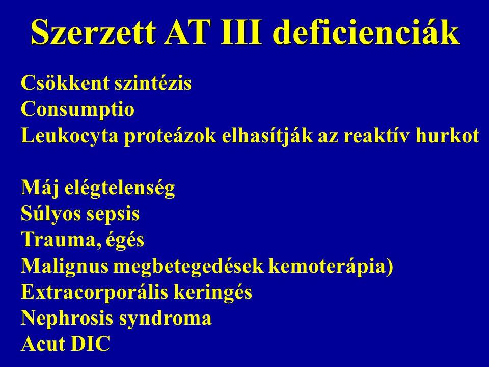 Szerzett AT III deficienciák