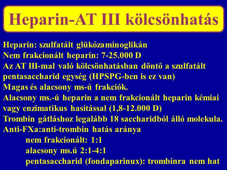 Heparin-AT III kölcsönhatás