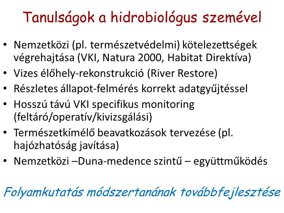 Tanulságok a hidrobiológus szemével