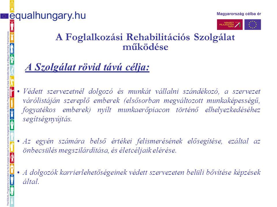 A Foglalkozási Rehabilitációs Szolgálat működése