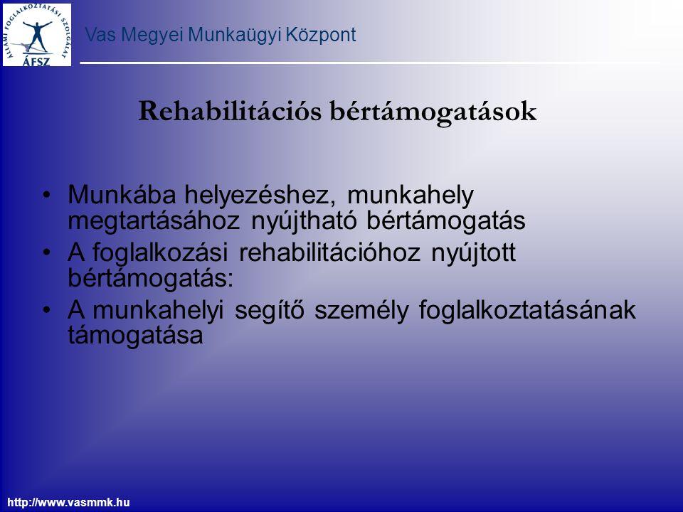 Rehabilitációs bértámogatások