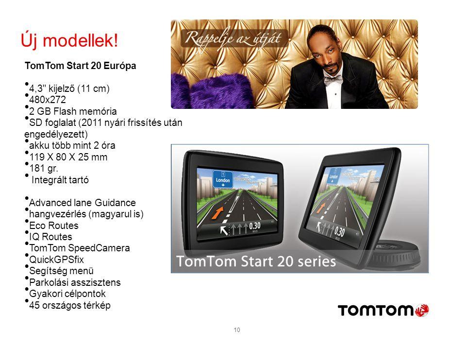 Új modellek! TomTom Start 20 Európa 4,3 kijelző (11 cm) 480x272