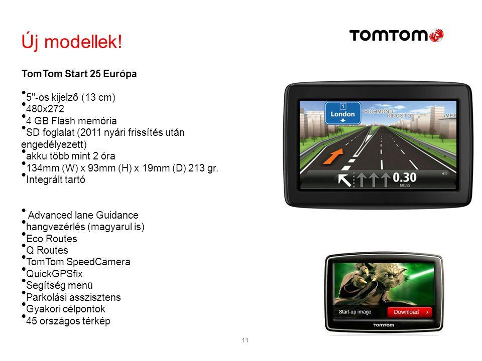 Új modellek! TomTom Start 25 Európa 5 -os kijelző (13 cm) 480x272