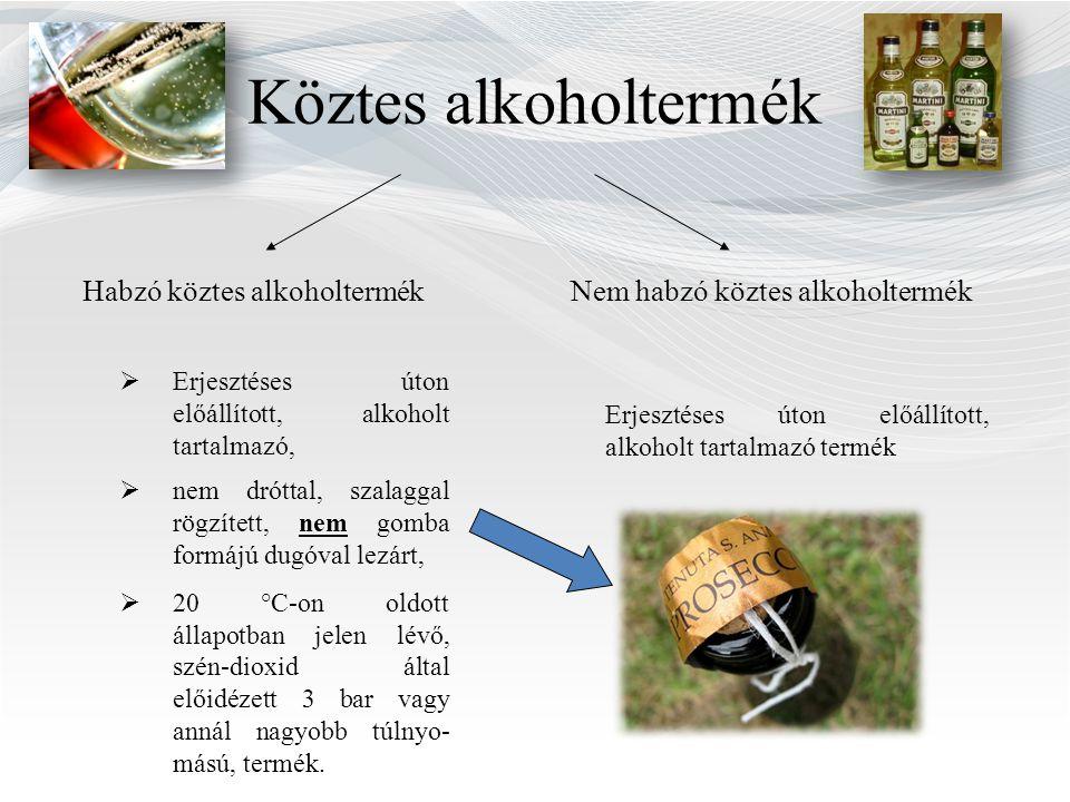 Köztes alkoholtermék Habzó köztes alkoholtermék