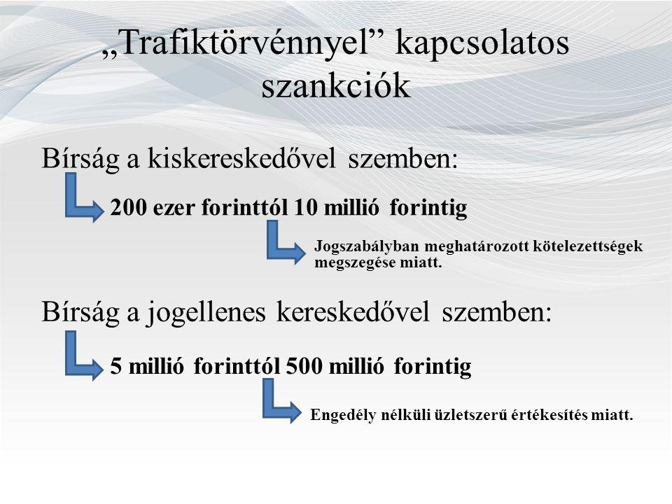 """""""Trafiktörvénnyel kapcsolatos szankciók"""