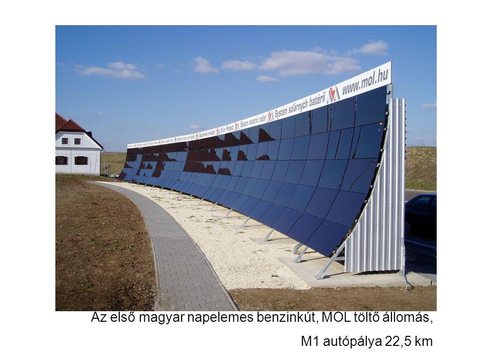 Az első magyar napelemes benzinkút, MOL töltő állomás,