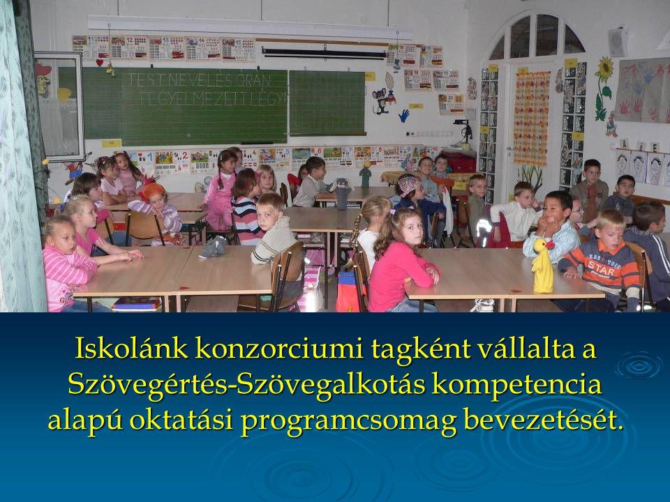 Iskolánk konzorciumi tagként vállalta a Szövegértés-Szövegalkotás kompetencia alapú oktatási programcsomag bevezetését.