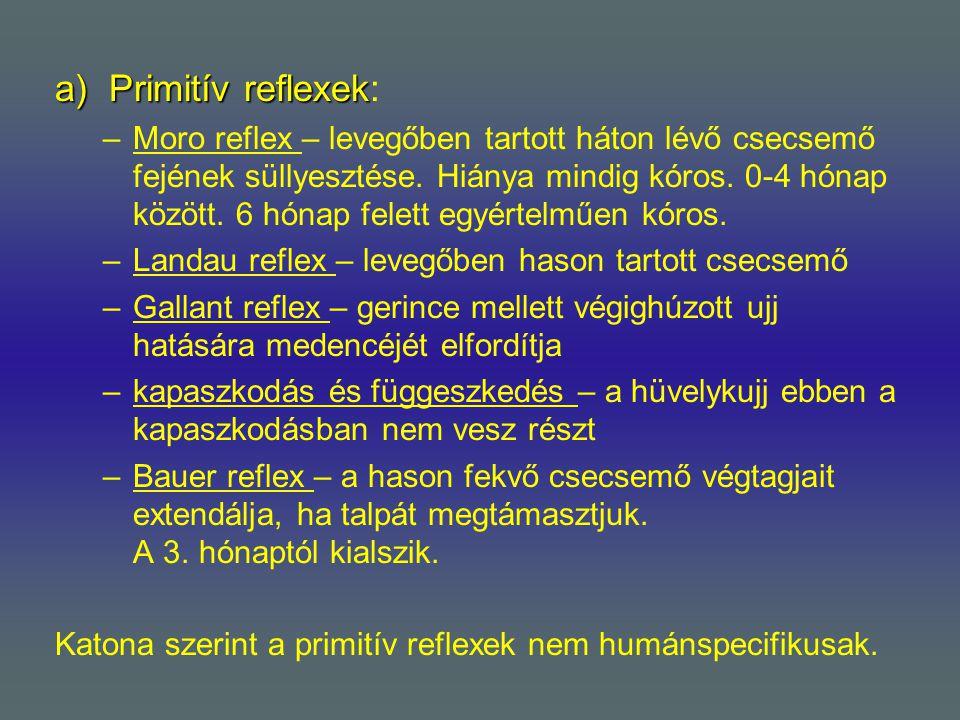 Primitív reflexek: