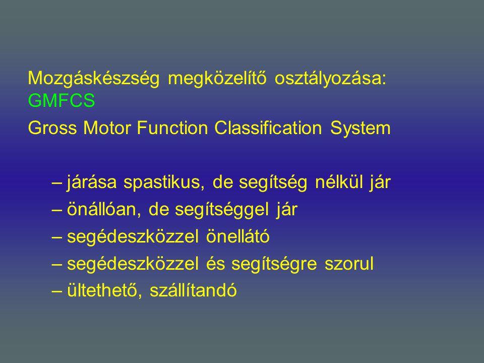 Mozgáskészség megközelítő osztályozása: GMFCS
