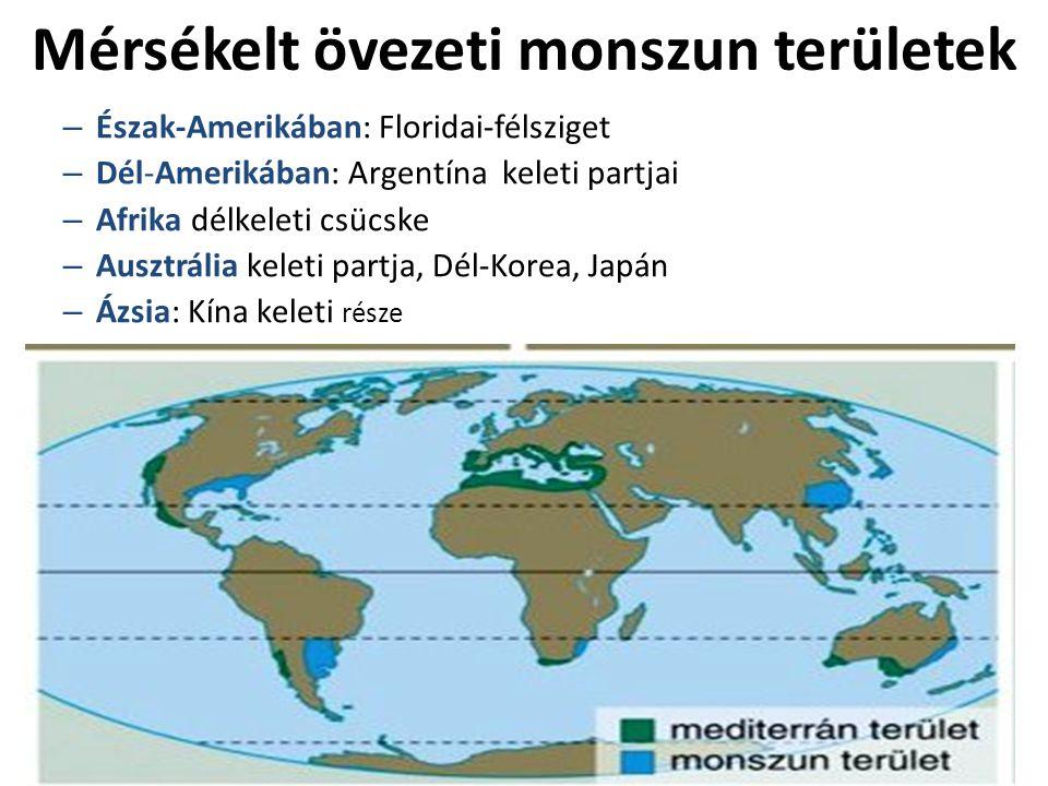 Mérsékelt övezeti monszun területek