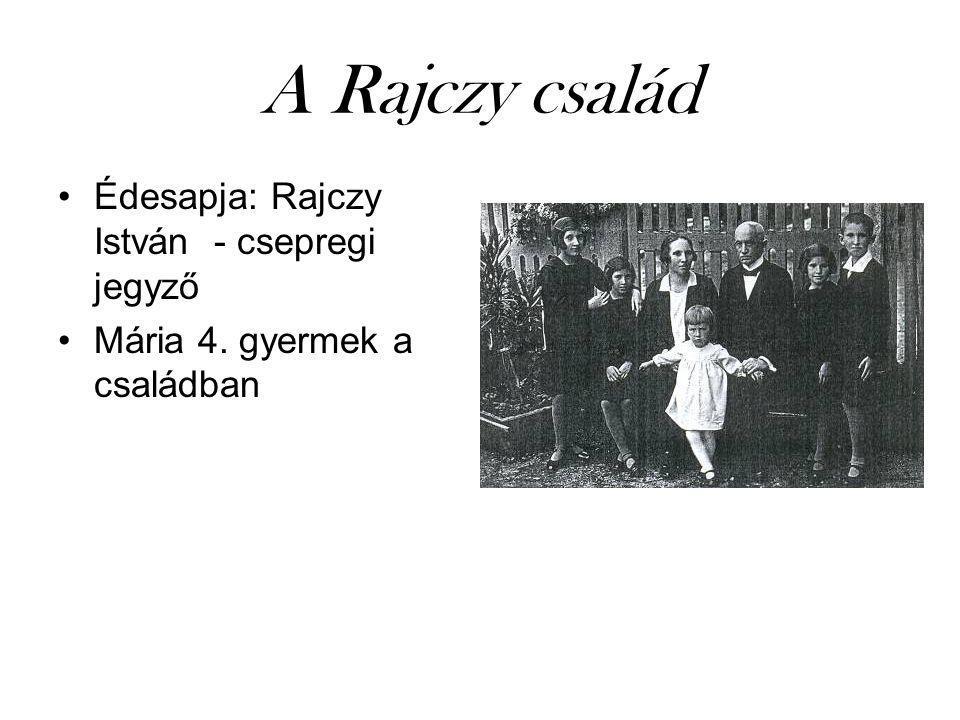 A Rajczy család Édesapja: Rajczy István - csepregi jegyző