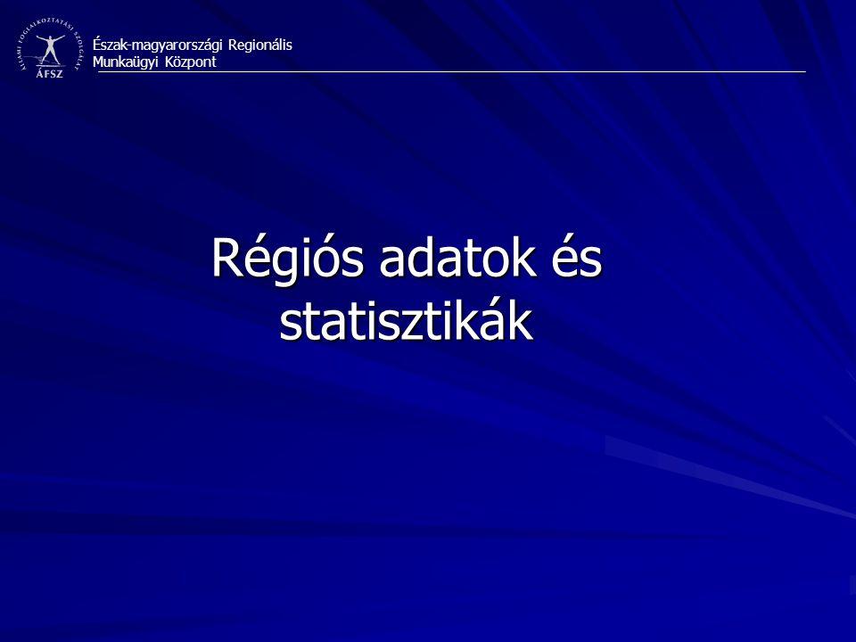 Régiós adatok és statisztikák
