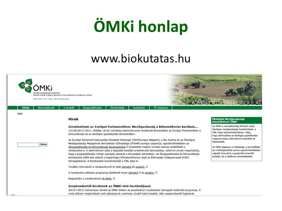 ÖMKi honlap www.biokutatas.hu