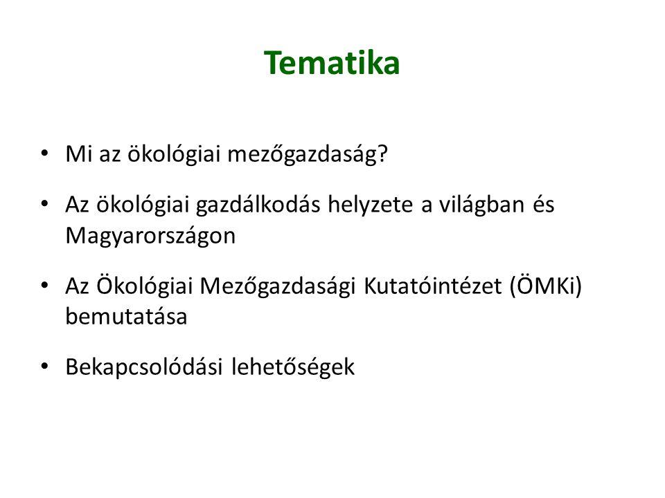 Tematika Mi az ökológiai mezőgazdaság