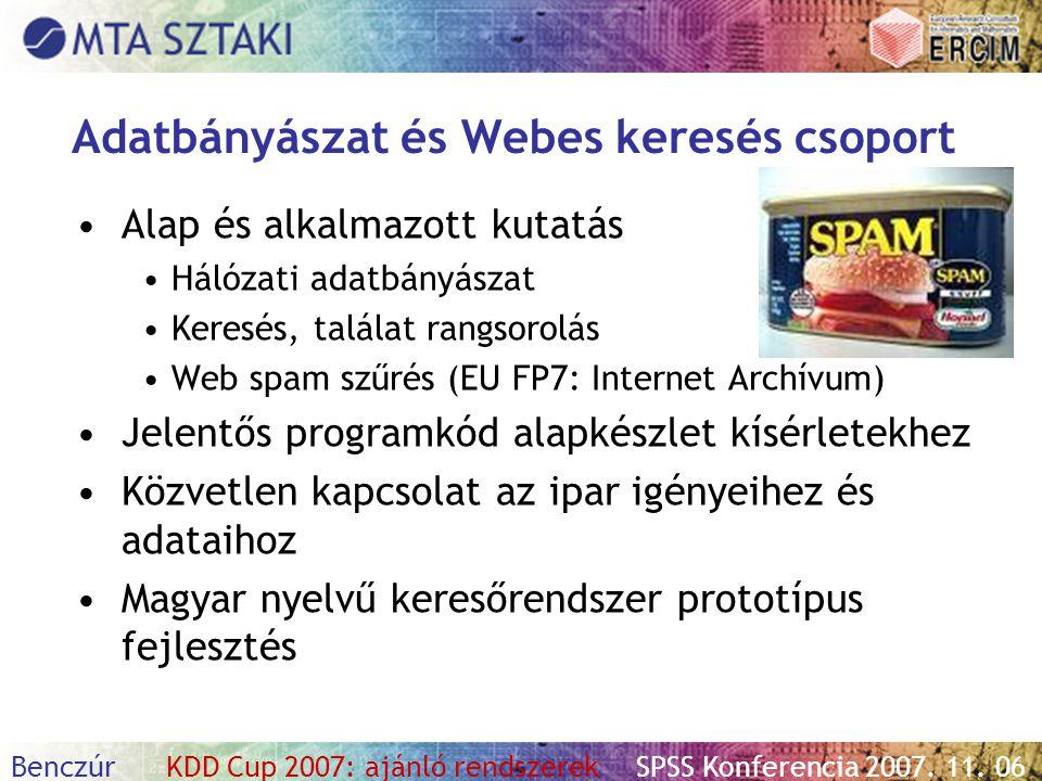 Adatbányászat és Webes keresés csoport