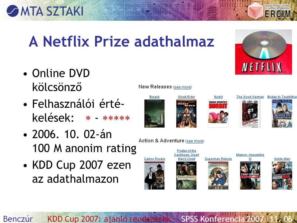 A Netflix Prize adathalmaz