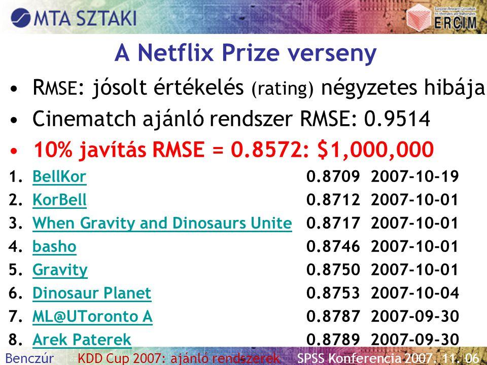 A Netflix Prize verseny