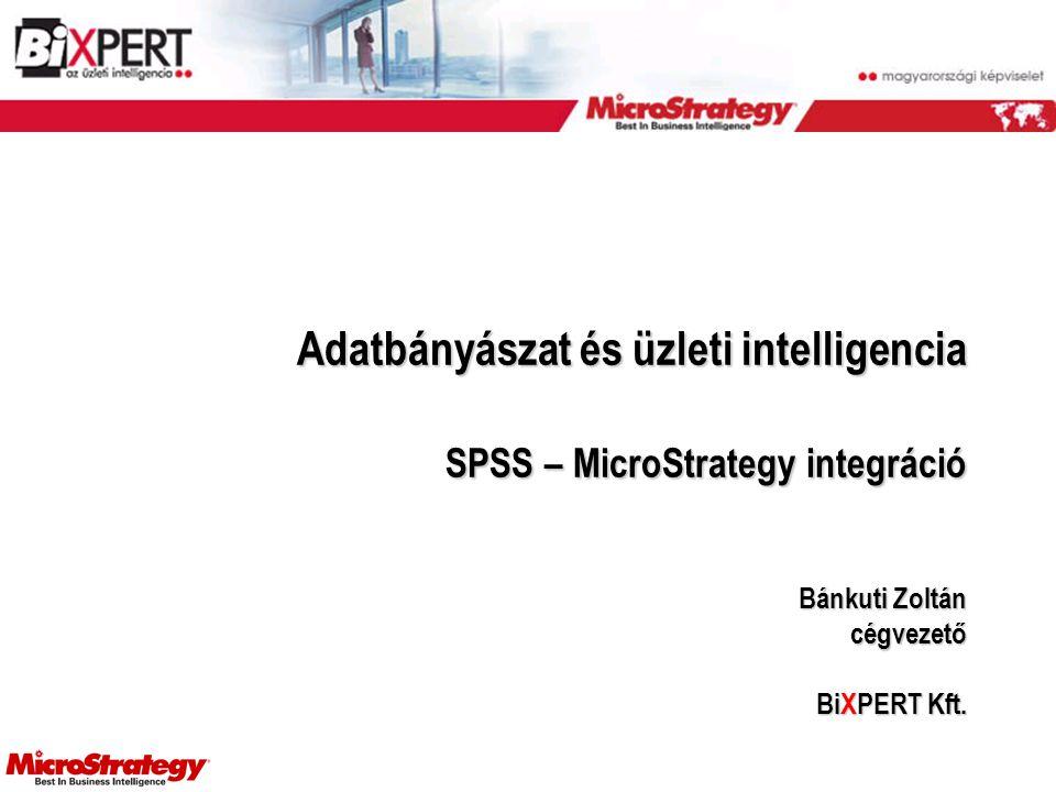 Adatbányászat és üzleti intelligencia SPSS – MicroStrategy integráció