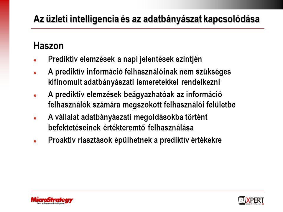Az üzleti intelligencia és az adatbányászat kapcsolódása