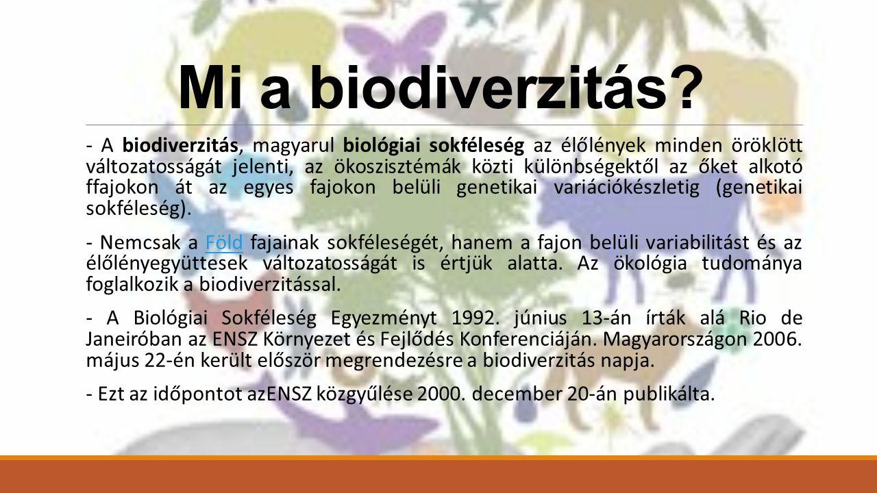 Mi a biodiverzitás