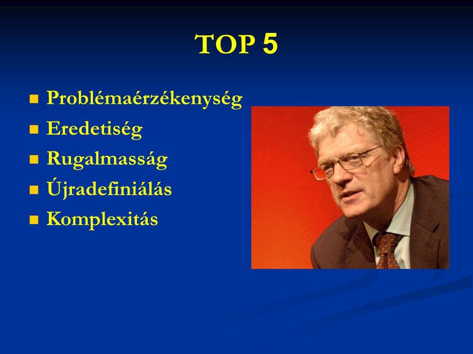 TOP 5 Problémaérzékenység Eredetiség Rugalmasság Újradefiniálás