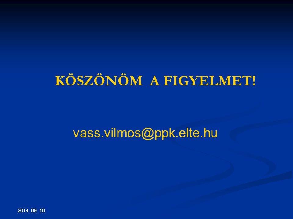 KÖSZÖNÖM A FIGYELMET! vass.vilmos@ppk.elte.hu 2017.04.05. 2017.04.05.