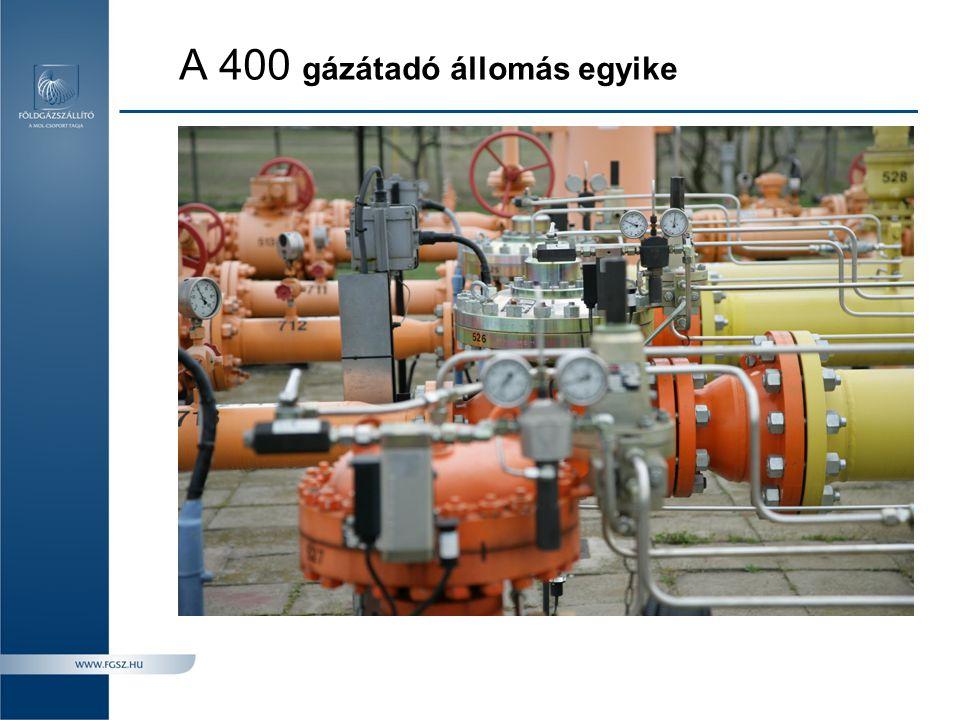 A 400 gázátadó állomás egyike