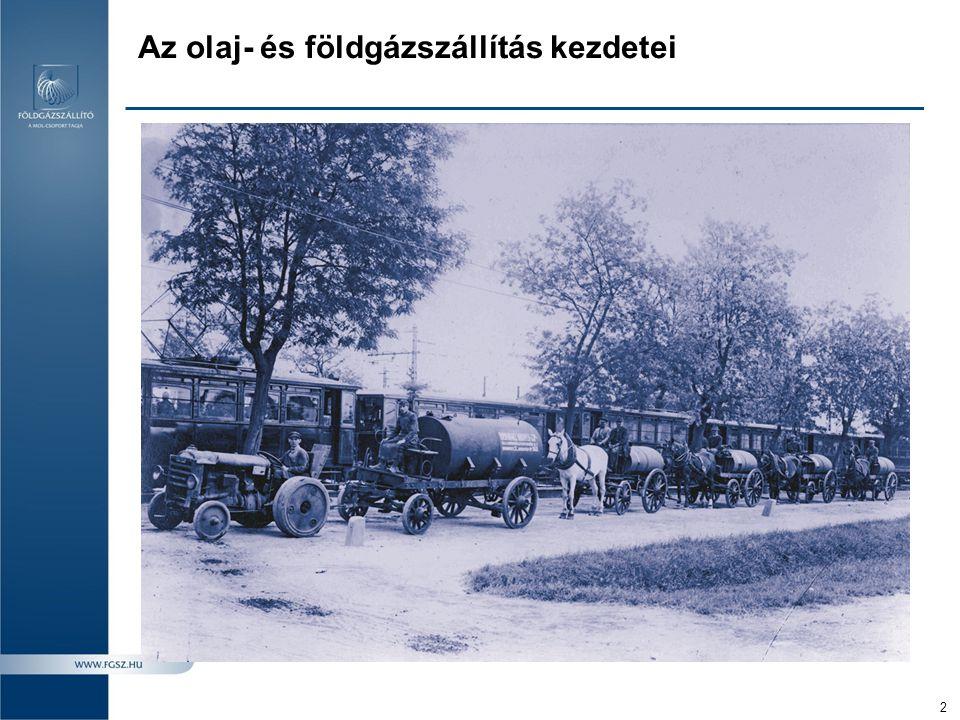 Az olaj- és földgázszállítás kezdetei