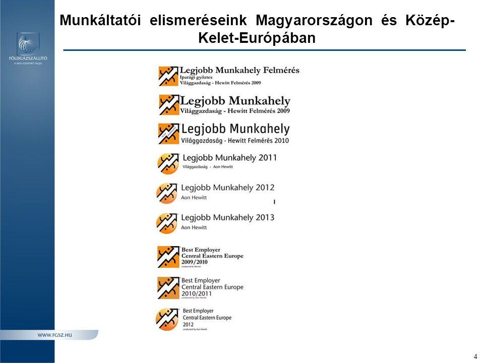 Munkáltatói elismeréseink Magyarországon és Közép-Kelet-Európában