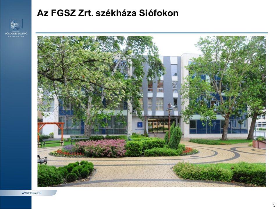 Az FGSZ Zrt. székháza Siófokon