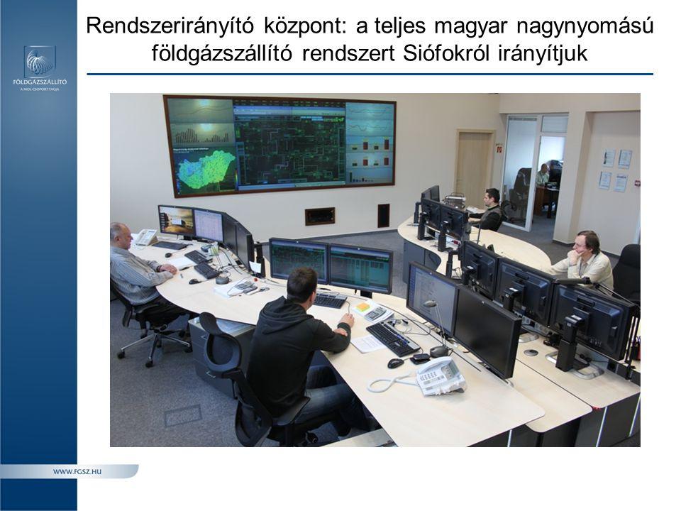 Rendszerirányító központ: a teljes magyar nagynyomású földgázszállító rendszert Siófokról irányítjuk