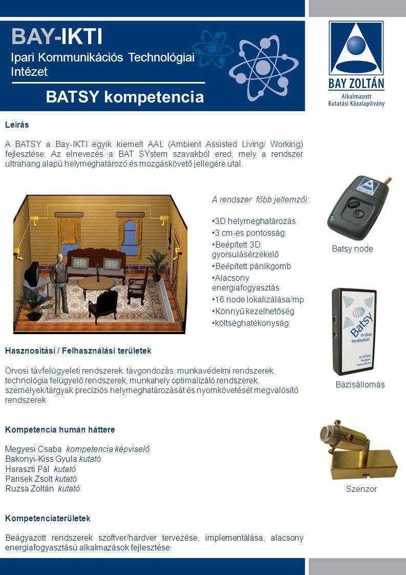 BAY-IKTI BATSY kompetencia Ipari Kommunikációs Technológiai Intézet