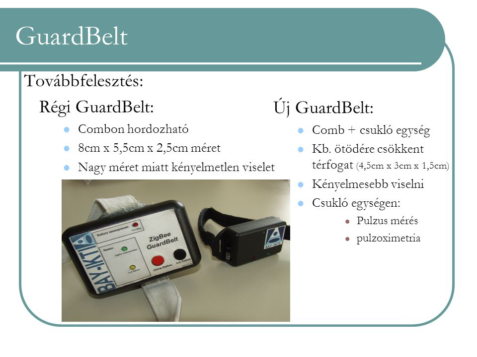 GuardBelt Továbbfelesztés: Régi GuardBelt: Új GuardBelt: