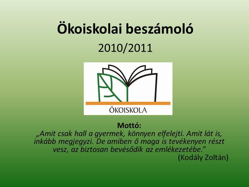 Ökoiskolai beszámoló 2010/2011