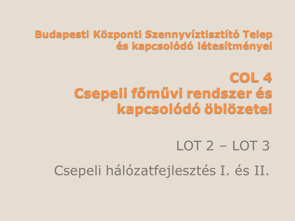 LOT 2 – LOT 3 Csepeli hálózatfejlesztés I. és II.