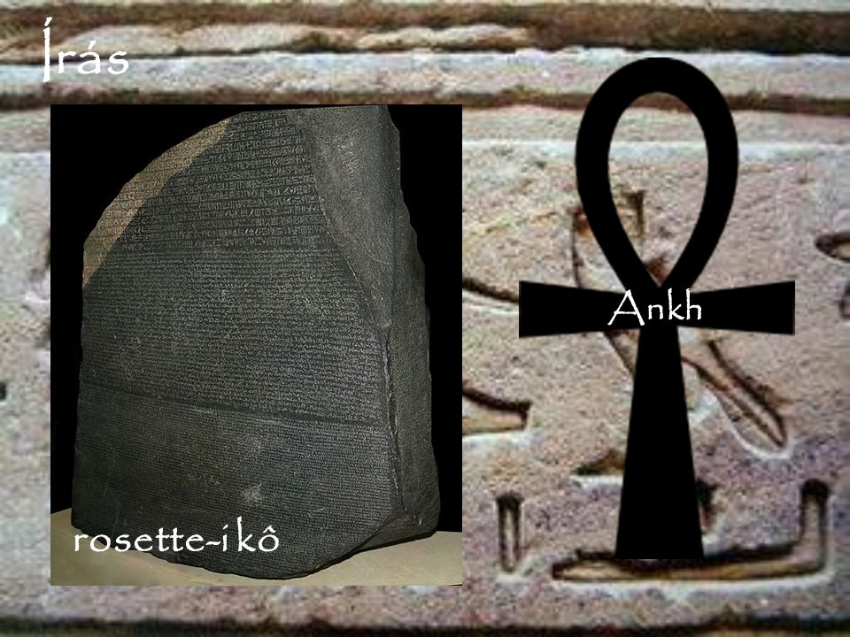 Írás Ankh rosette-i kő rosette-i kô