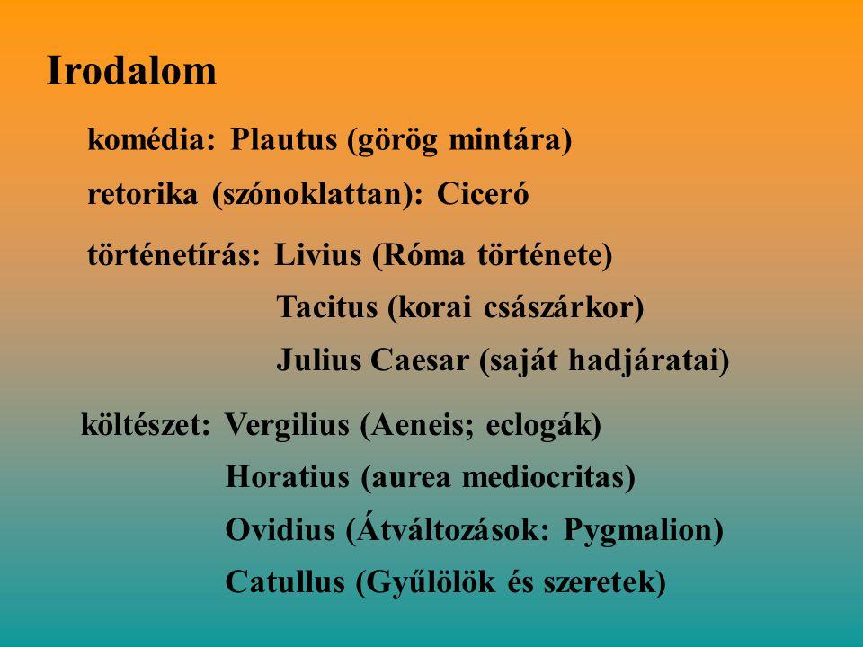Irodalom komédia: Plautus (görög mintára)
