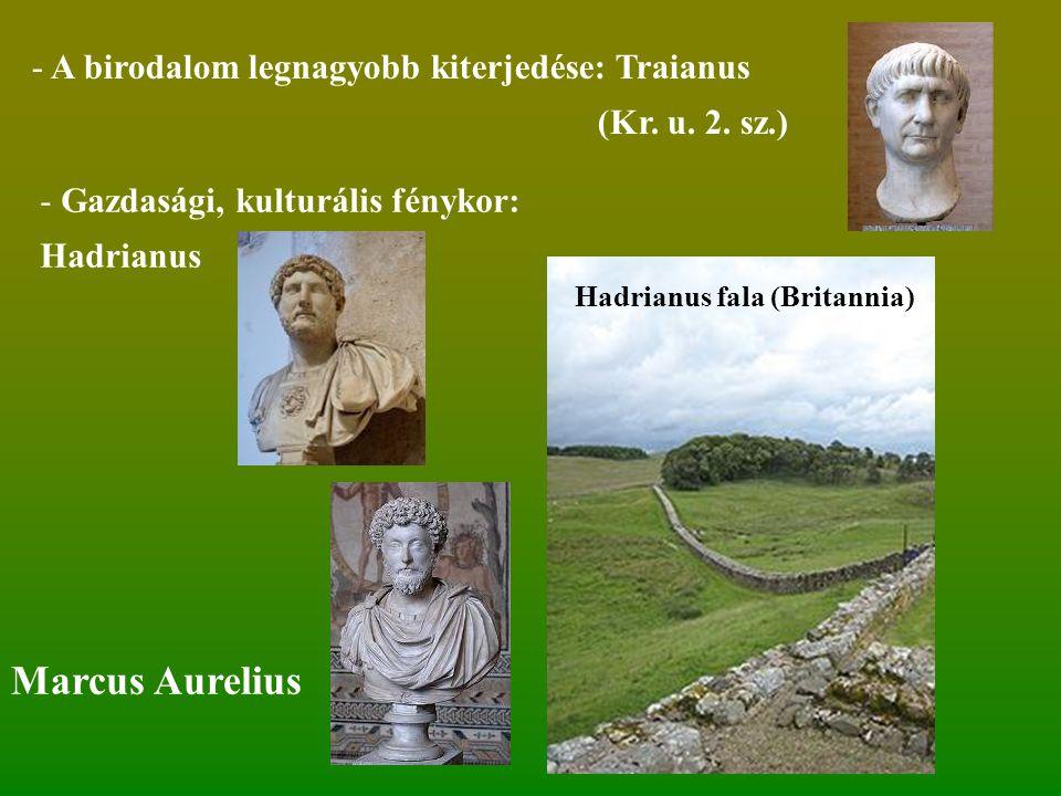 Marcus Aurelius A birodalom legnagyobb kiterjedése: Traianus