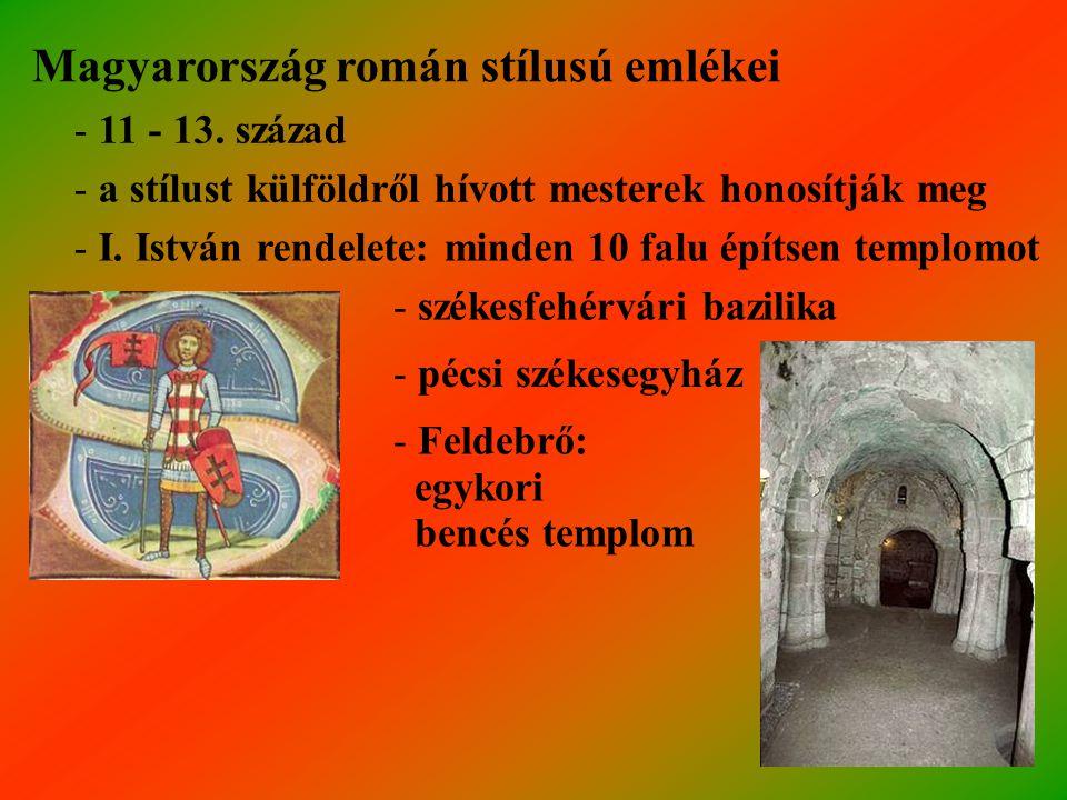 Magyarország román stílusú emlékei