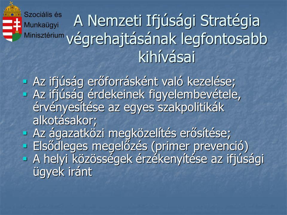 A Nemzeti Ifjúsági Stratégia végrehajtásának legfontosabb kihívásai