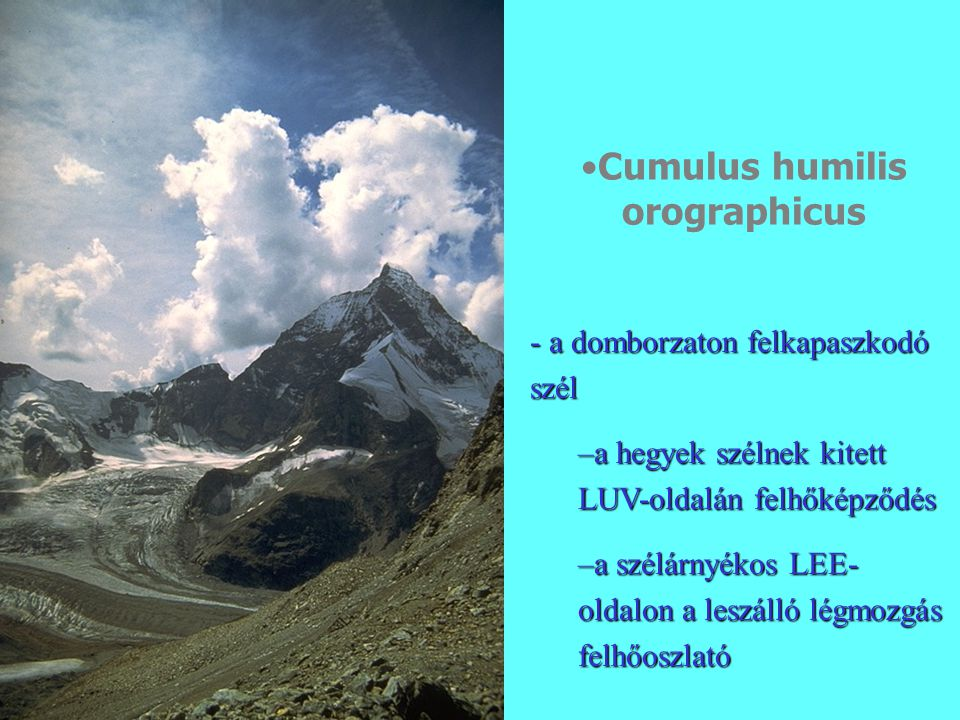 Cumulus humilis orographicus