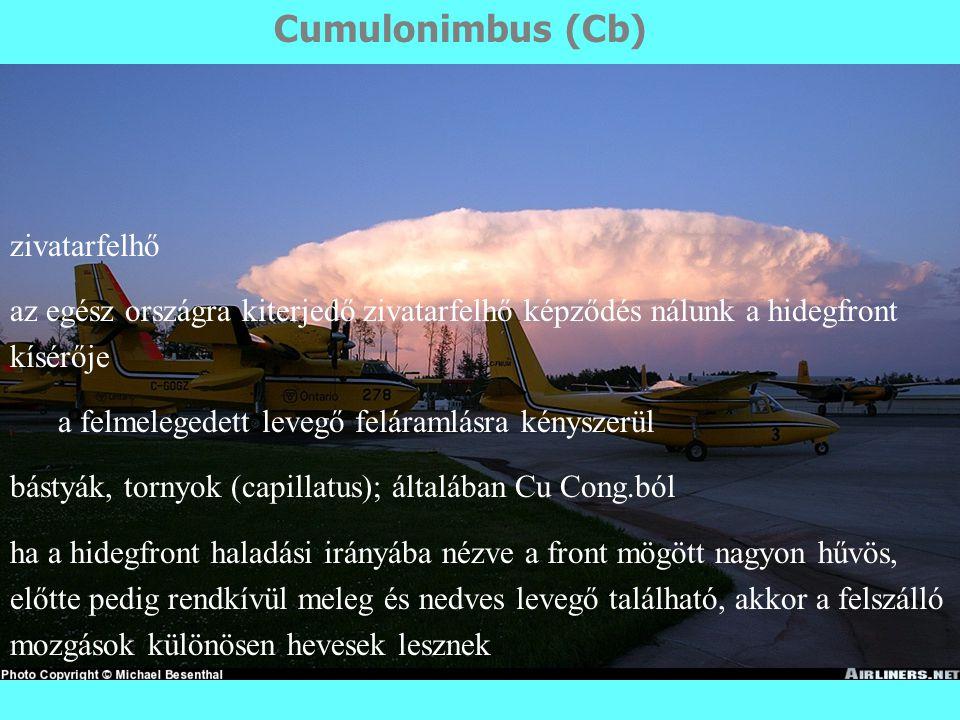 Cumulonimbus (Cb) zivatarfelhő