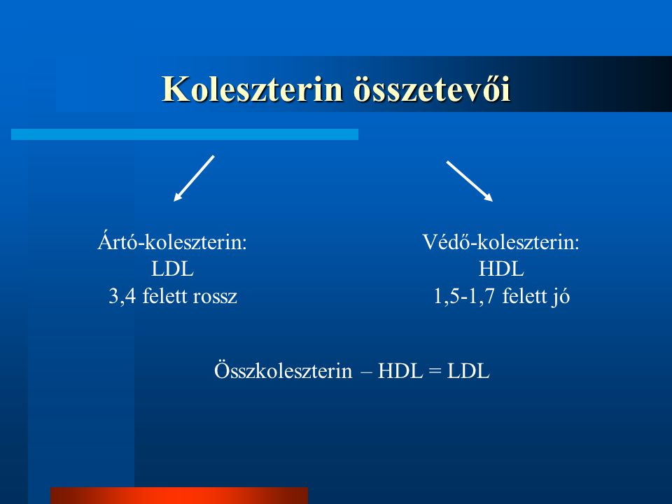 Koleszterin összetevői