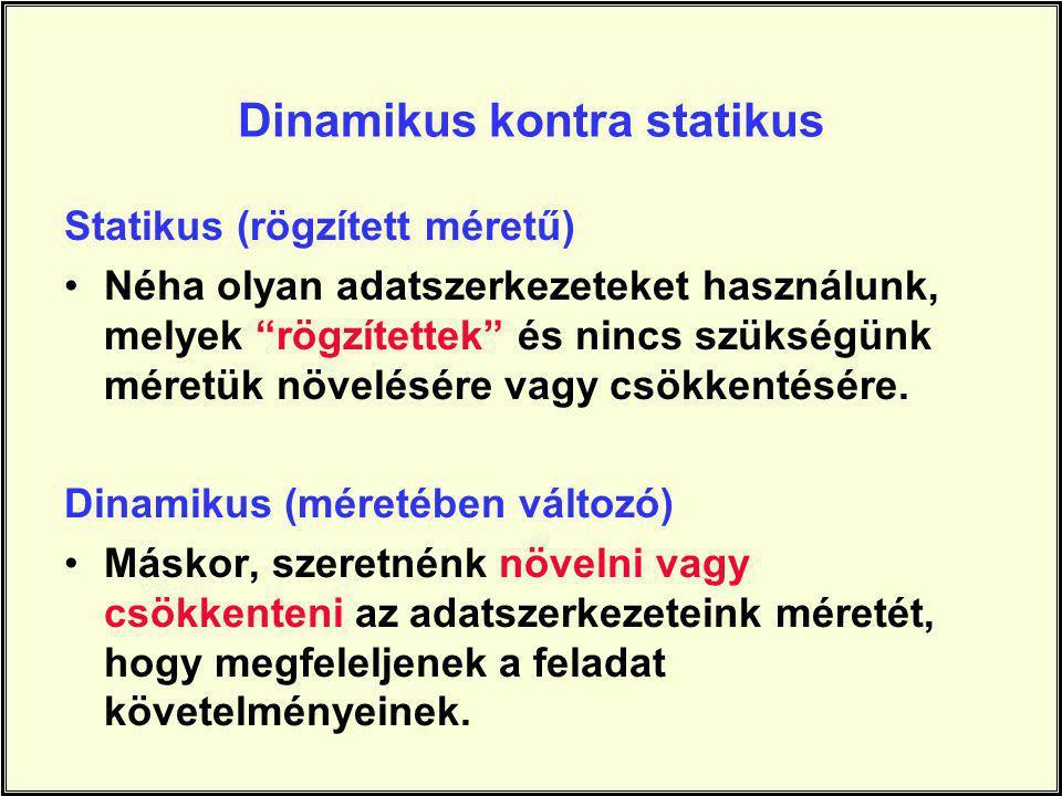 Dinamikus kontra statikus