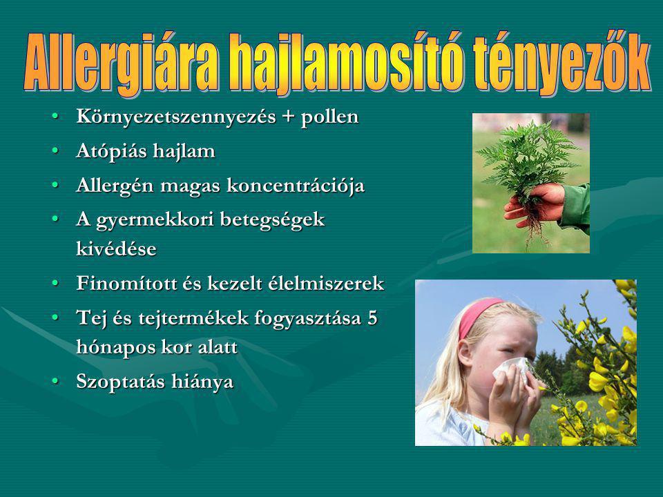 Allergiára hajlamosító tényezők