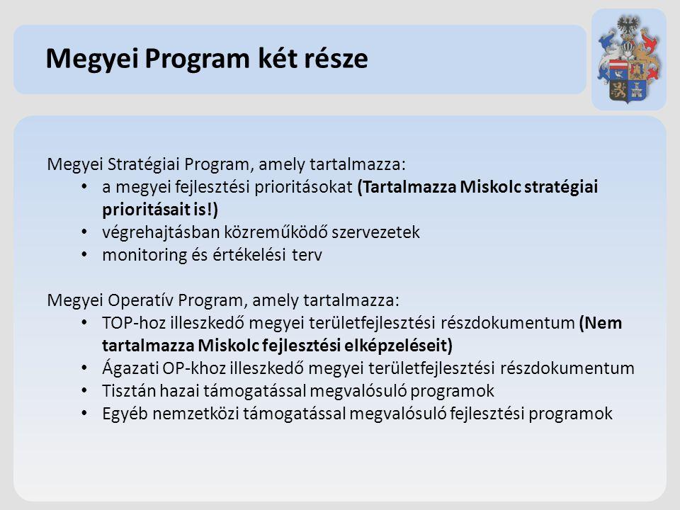 Megyei Program két része