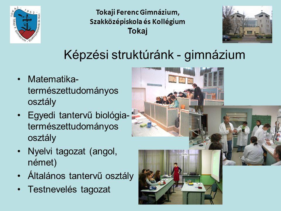 Képzési struktúránk - gimnázium