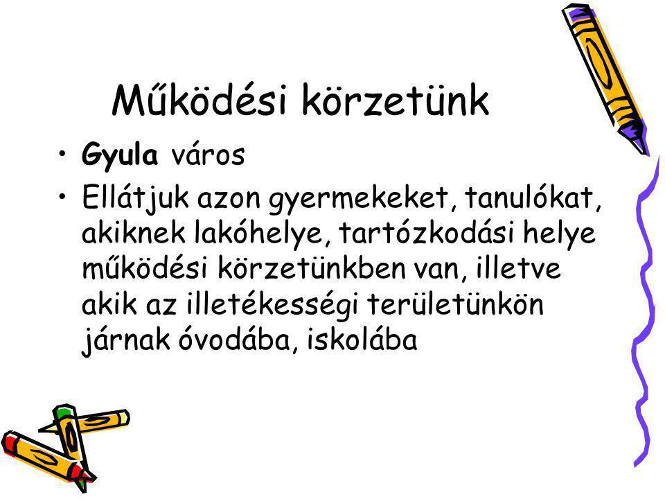 Működési körzetünk Gyula város