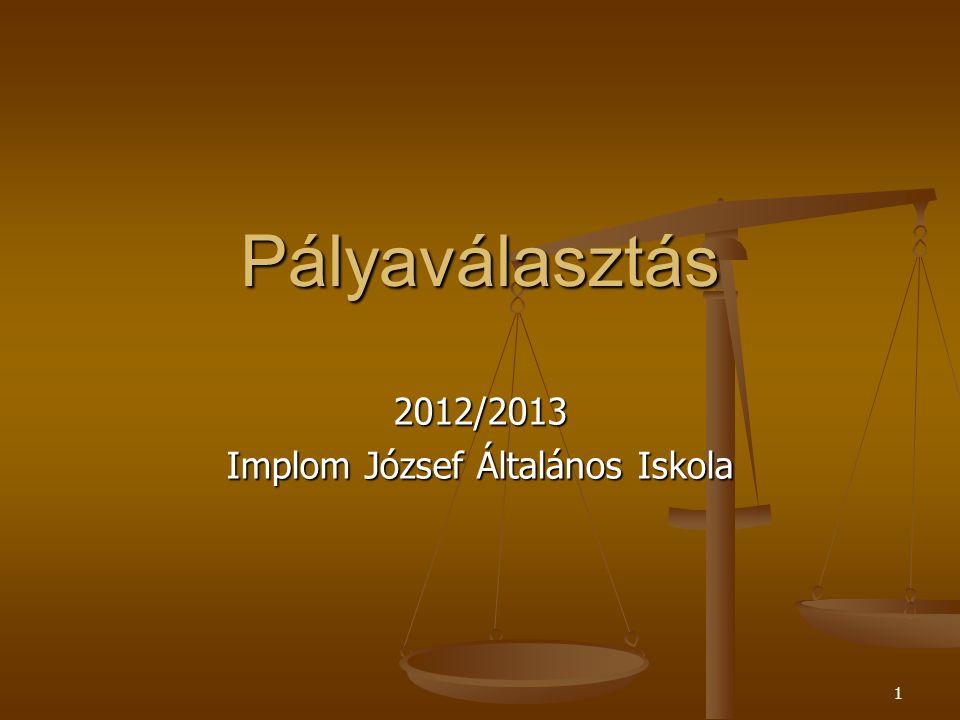 2012/2013 Implom József Általános Iskola